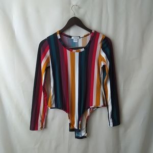 Colorful Stripped Bodysuit